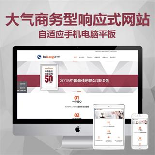 大气商务型响应式网站