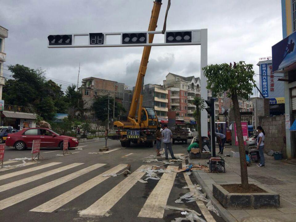 贵阳交通信号灯安装案例